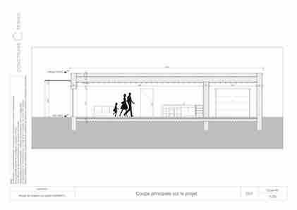 Maison paille coupe dimensions projet Modèle L