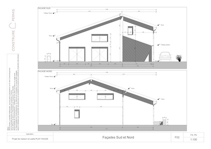 Maison paille Façades modèle PLAY HOUSE