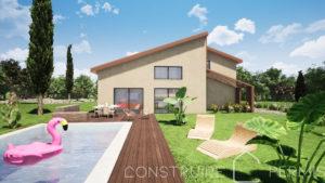 Maison paille Perspective extérieure 1 modèle PLAY HOUSE