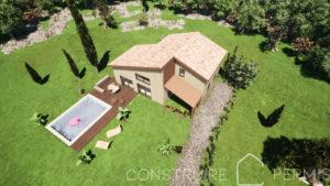 Maison paille Perspective extérieure 4 modèle PLAY HOUSE
